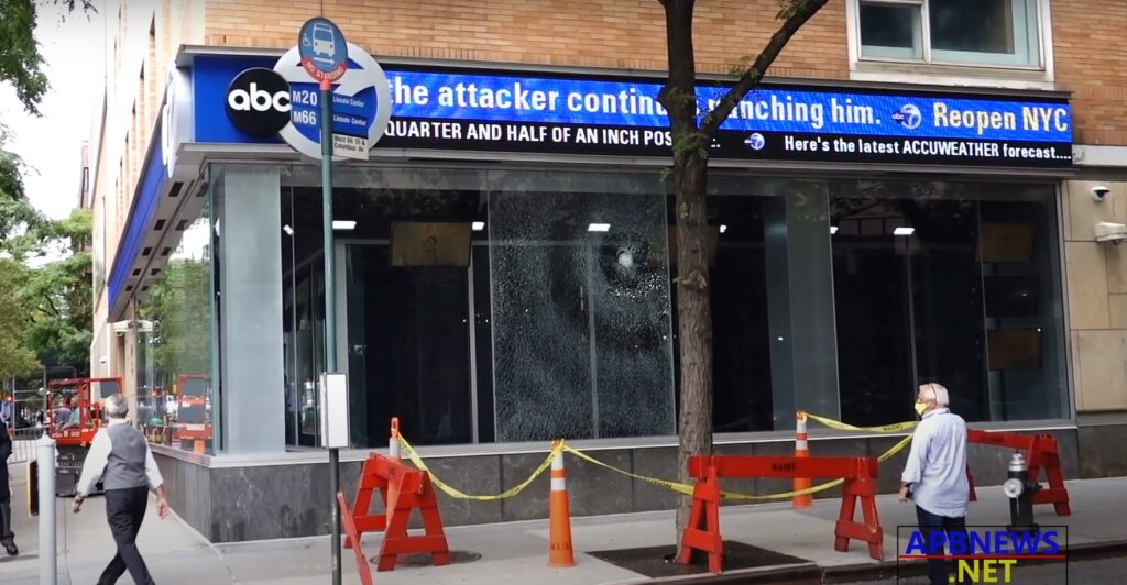 CHANNEL 7 EYEWITNESS NEWS STUDIOS VANDALIZED ON WEDNESDAY MIDDAY