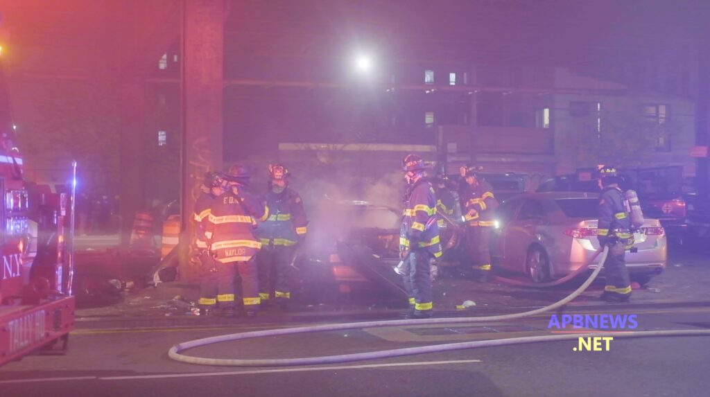 FDNY Rushes to the Scene of a Car Fire Under the BQE in Brooklyn
