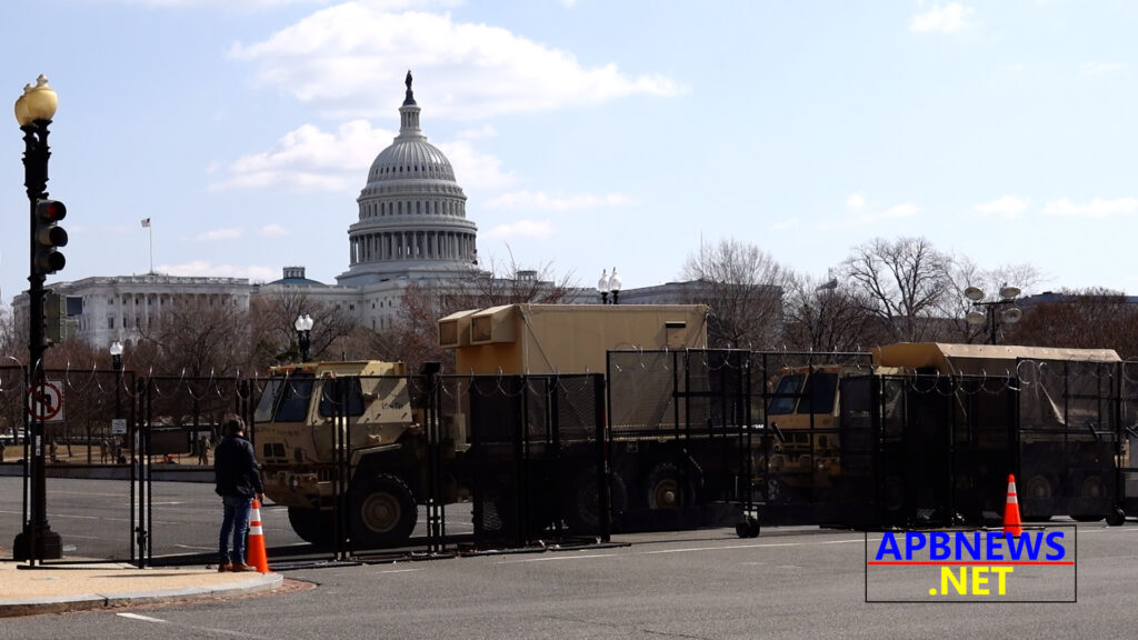 US CAPITOL UNDER GUARD ON MARCH 4 EXPECTING UNIDENTIFIED MILITIA GROUP ATTACK BUT NOTHING HAPPENED!